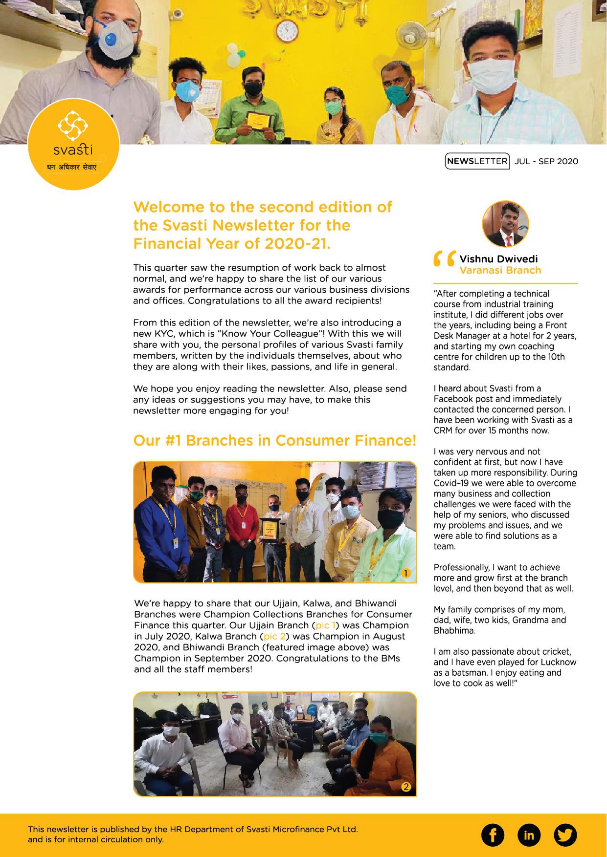 Svasti Newsletter Jul to Sep 2020