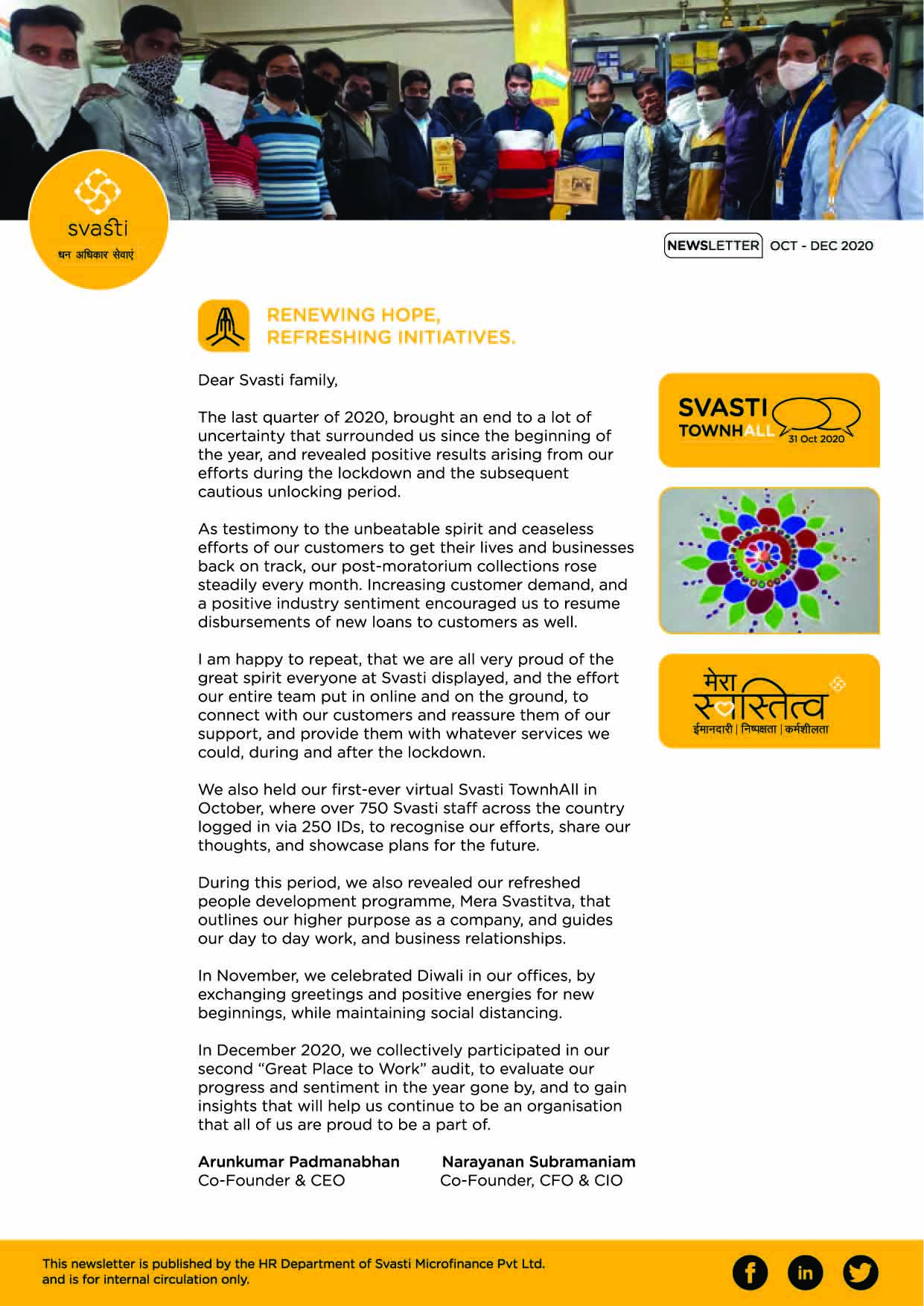 Svasti Newsletter Oct to Dec 2020 HiRes