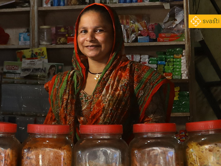 Suraya Abdul Shaikh - Retail Store Owner, and Svasti Microfinance Customer