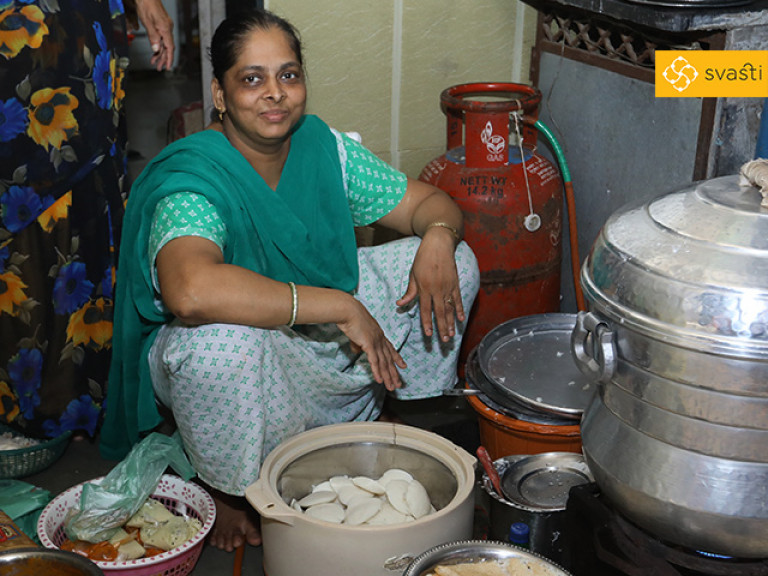 Mamta Bombarde - Food Retail, and Svasti Microfinance Customer