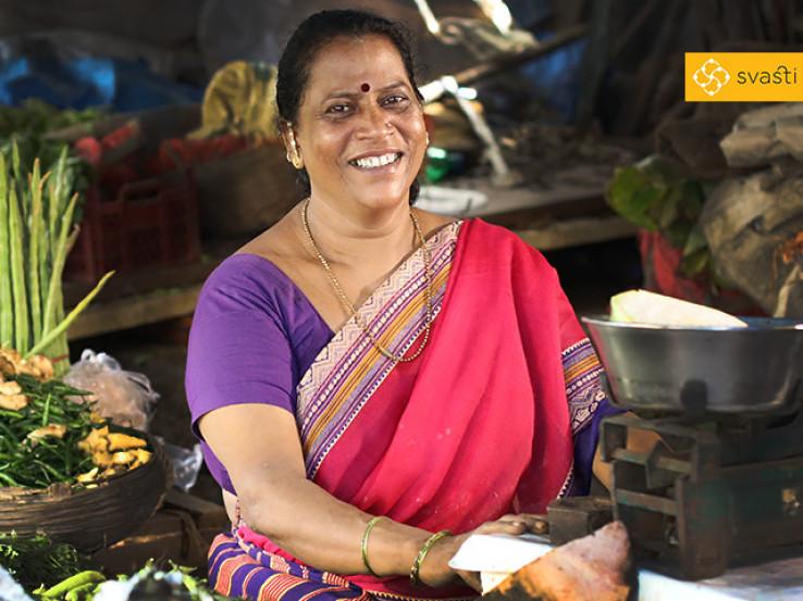 Asha Manohar Sawant - Vegetable Retail Business, and Svasti Microfinance Customer