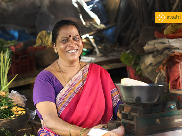 Asha Manohar Sawant - Vegetable Retail Business, and Svasti Microfinance Customer